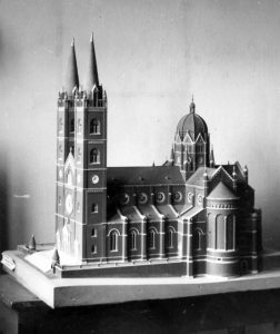 A model of the cathedral in Đakovo, Author: Ljudevit Horvat
