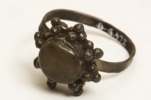 Silver ring with a plate in form of an octagonal star found at the site Đakovo -  Parish church (12th-13th Century)