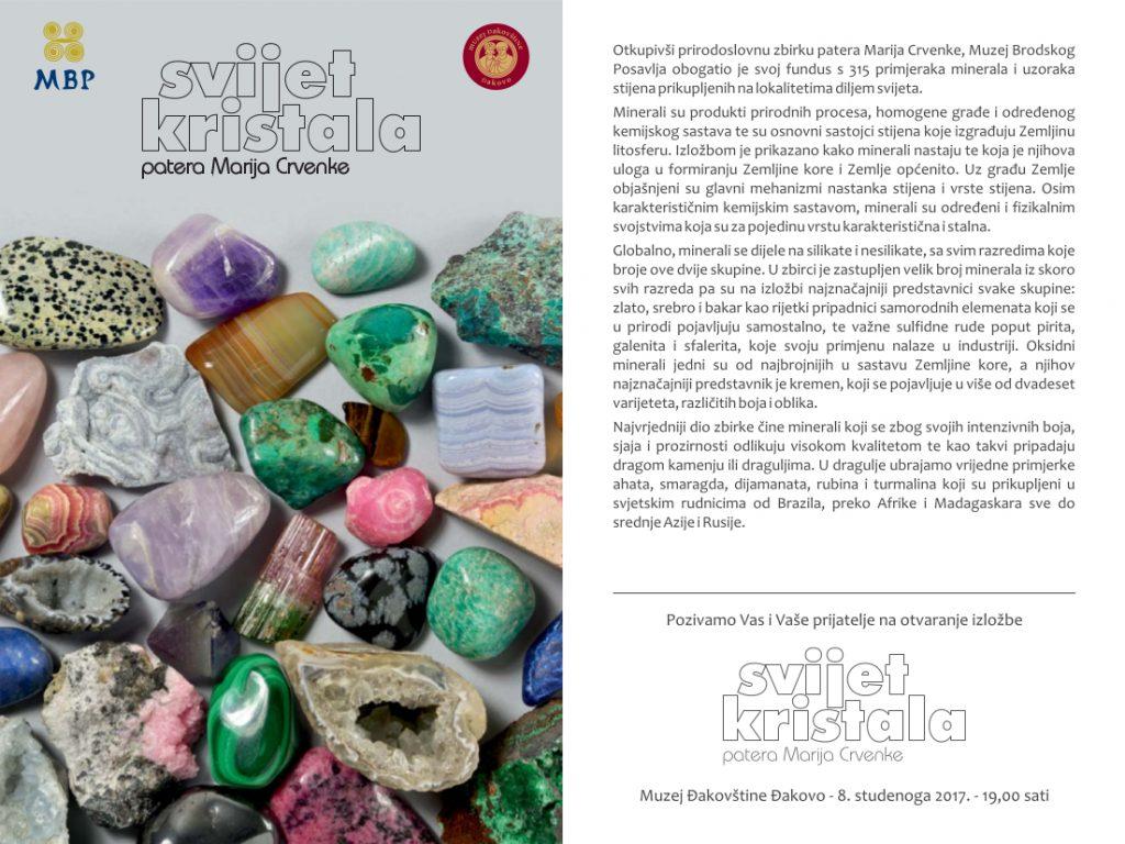 kristali - pozivnica muzej