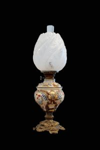 A lamp from a middle-class parlour