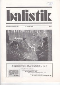 Cover of a magazine Balistik, 1992