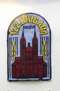 Insignia of the 122nd Brigade unit from Đakovo